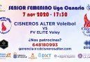No te pierdas el encuentro de nuestro equipo senior femenino Cisneros Alter frente al FV Elite Voley